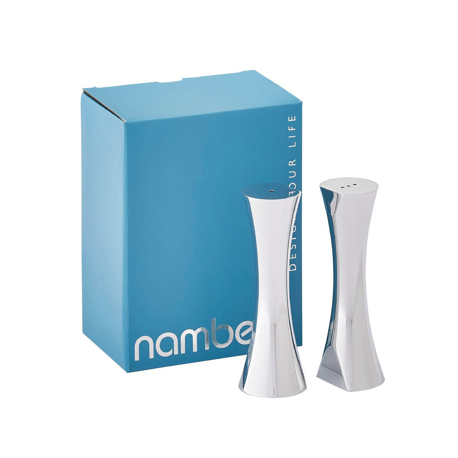 Nambe – Kissing Salt and Pepper Shakers in Gift Box