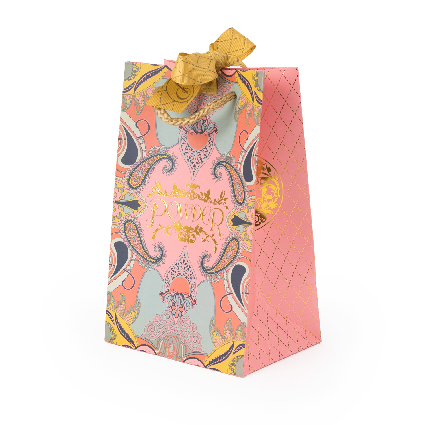 Powder – Cream Retro Meadow Print Scarf with Powder Presentation Gift Bag