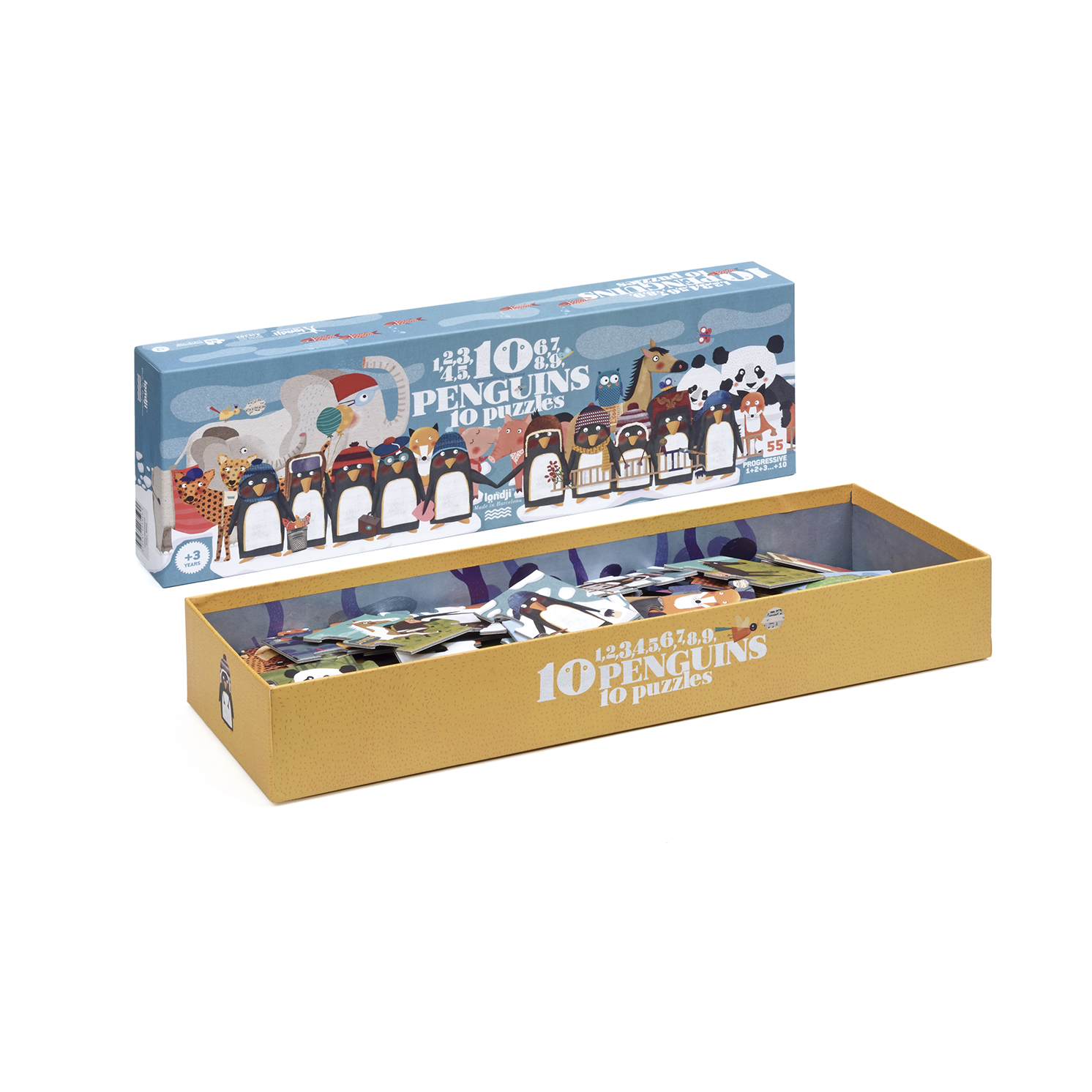 Londji – 10 Penguins Puzzle in Box