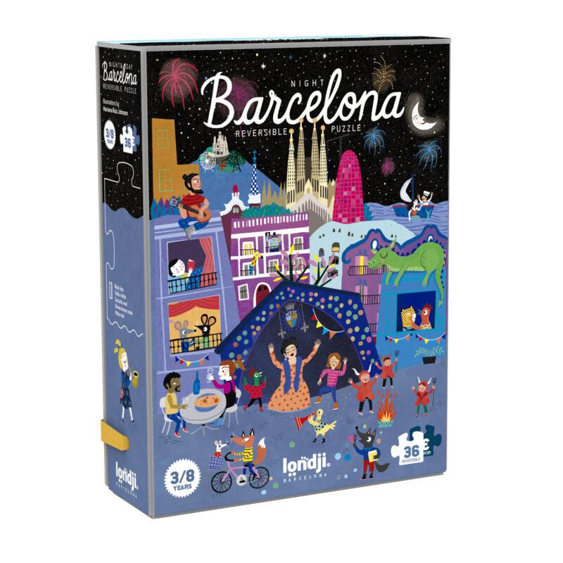 Londji – Night & Day in Barcelona Reversible Puzzle in Box