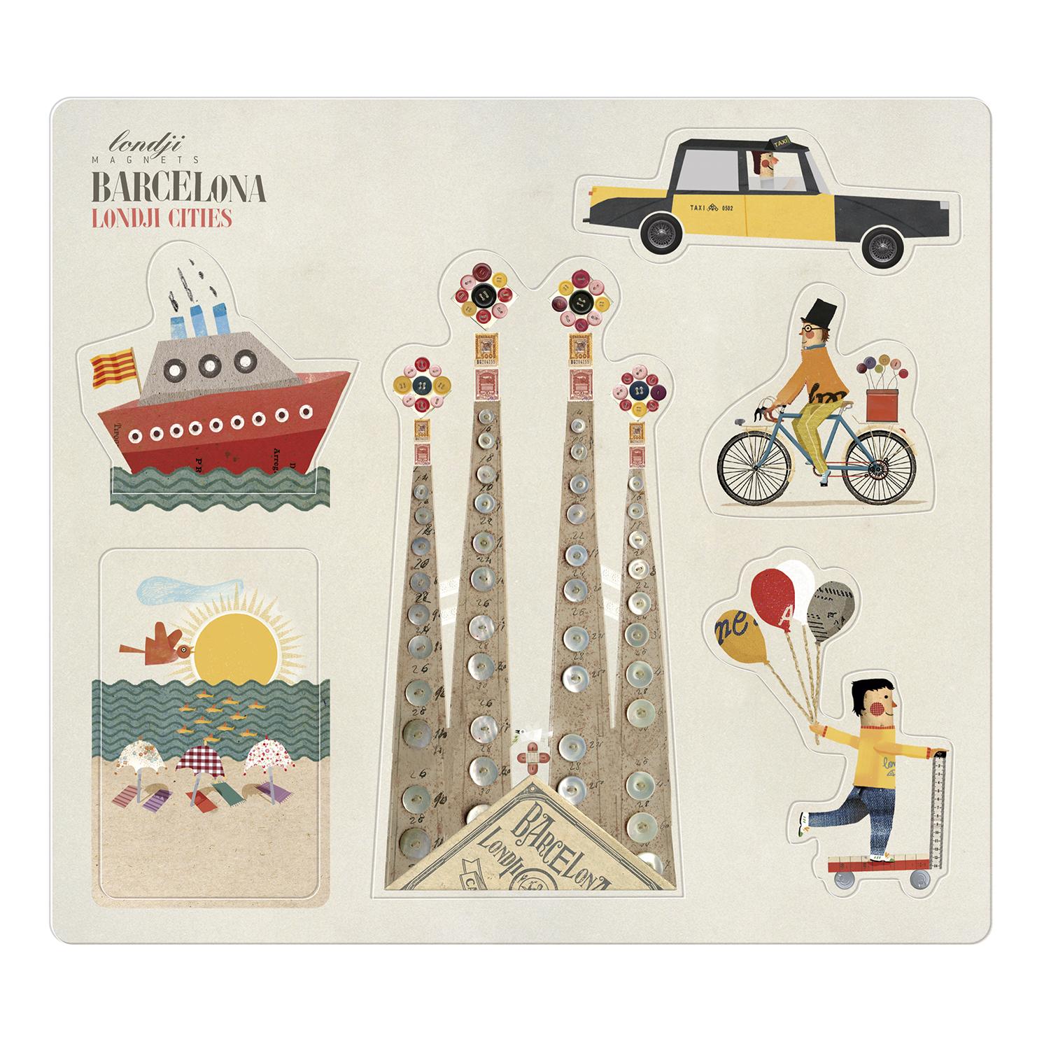 Londji – Barcelona Fridge Magnets on Card