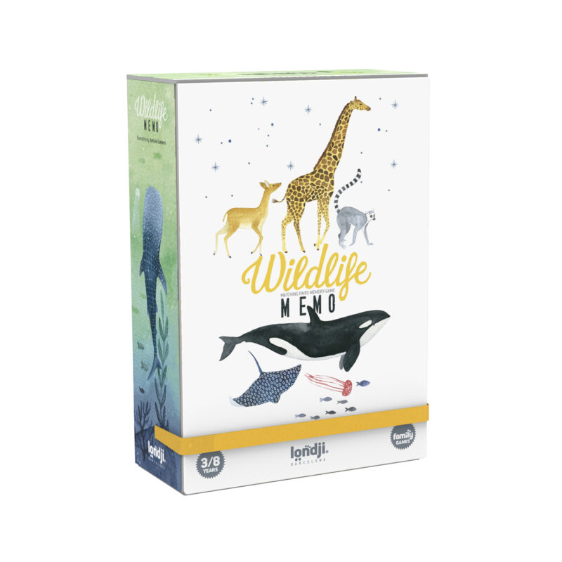 Londji – Wildlife Memo Matching Pairs Memory Game in Box
