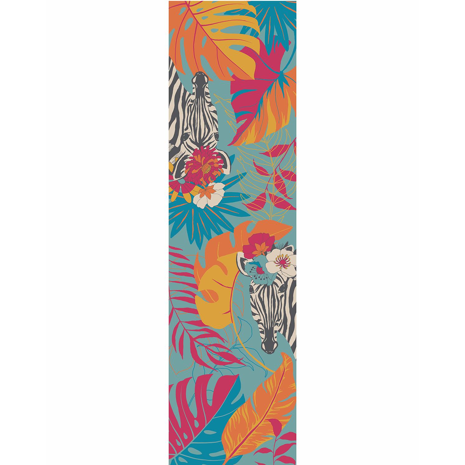 Powder – Blue Floral Zebra Neck Scarf with Powder Presentation Gift Bag