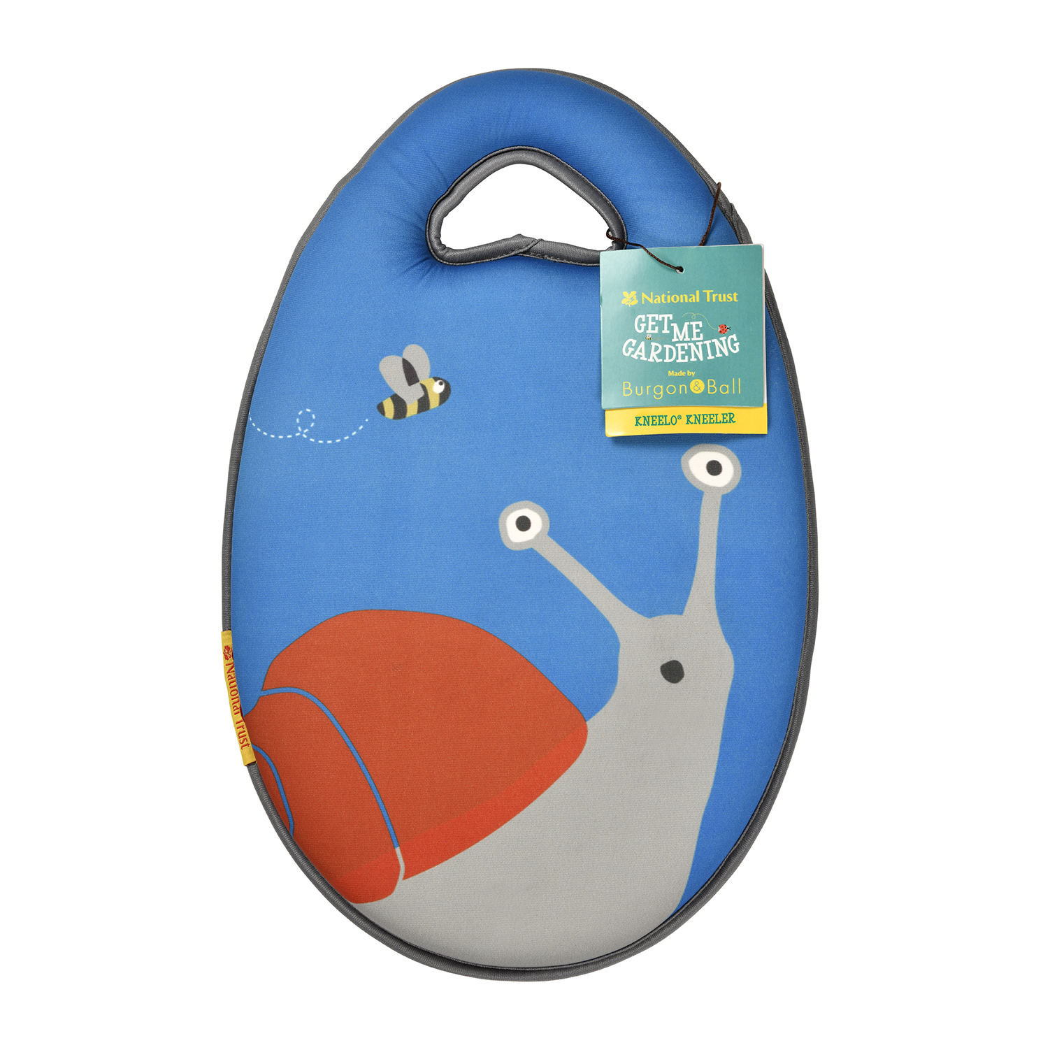 Burgon & Ball – National Trust Children's Snail Garden Kneeler with Frog Gloves