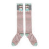 Powder – Charcoal Poodle/Westie Long Knee High Socks with Presentation Gift Bag