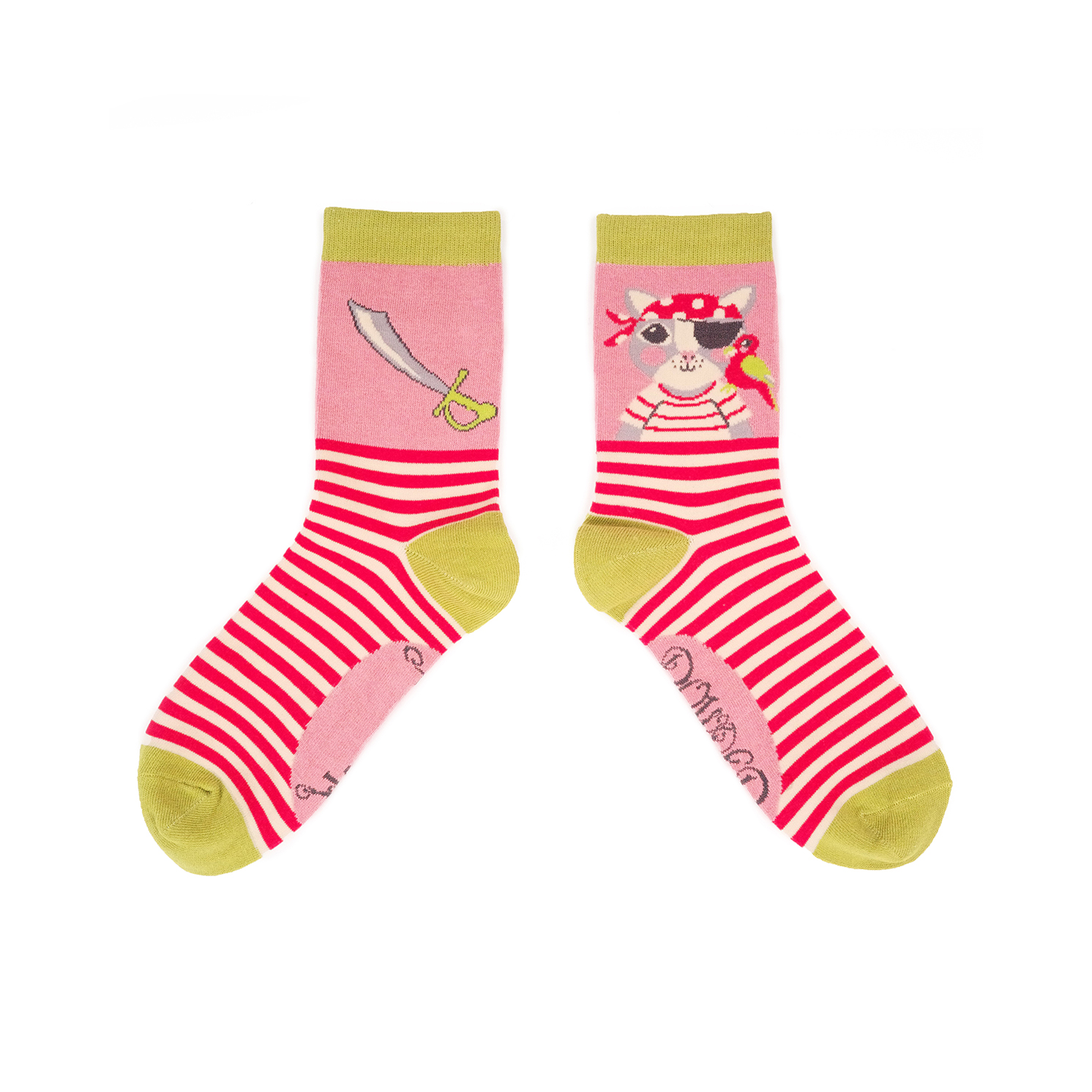 Powder – Candy Pirate Pussy Ankle Socks with Presentation Gift Bag