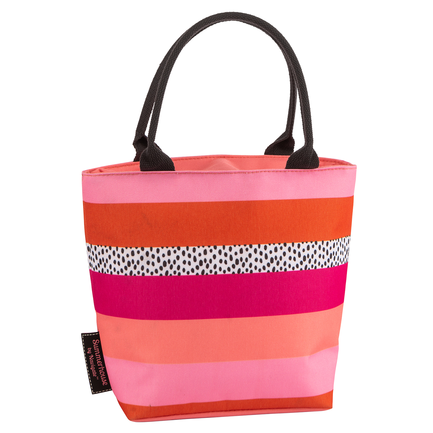 Navigate – Tribal Fusion Stripe Lunch Tote Bag & Matching Floral Drinks Bottle