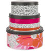 Navigate – 'Tribal Fusion' Floral/Dash Set of 2 Tea Towels & Oven Gloves