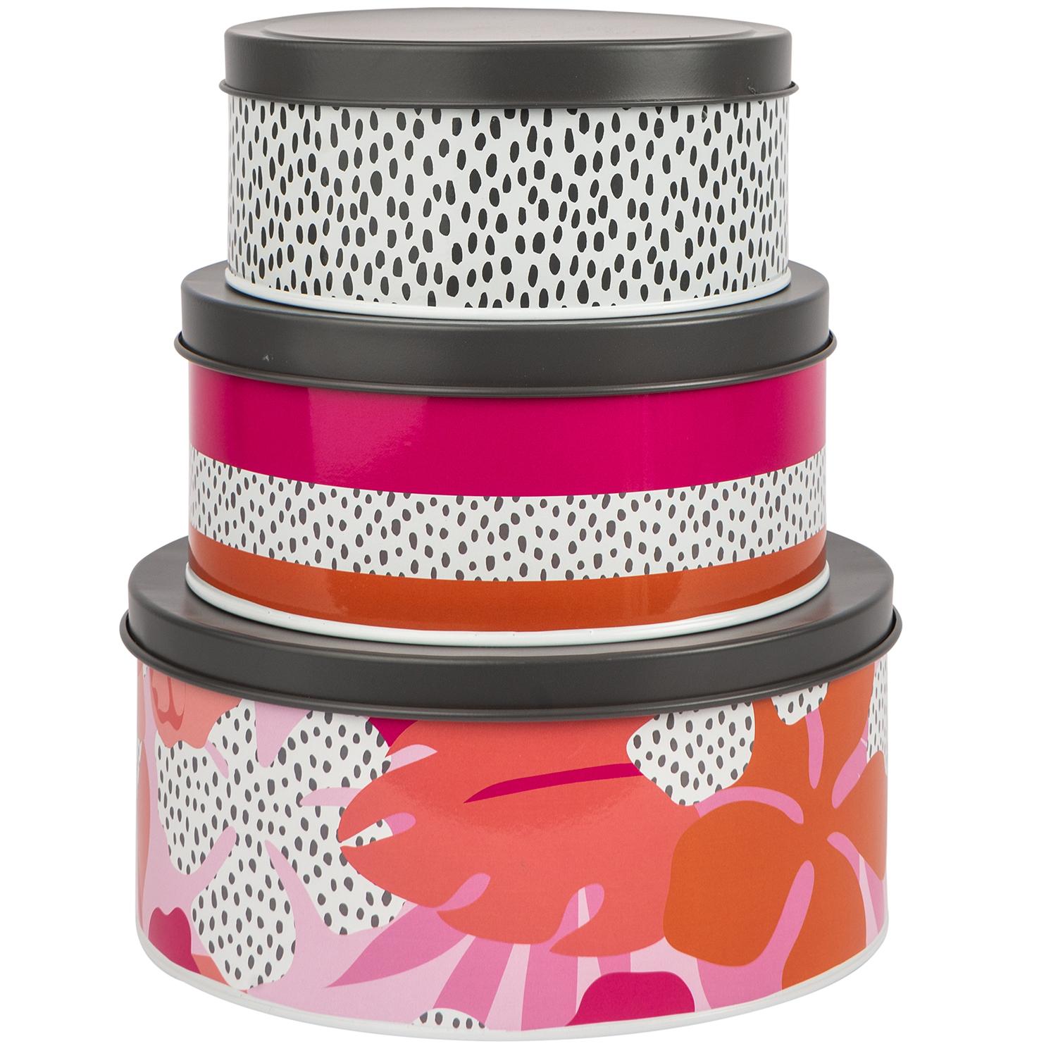 Navigate – Summerhouse 'Tribal Fusion' Set of 3 Nesting Tins