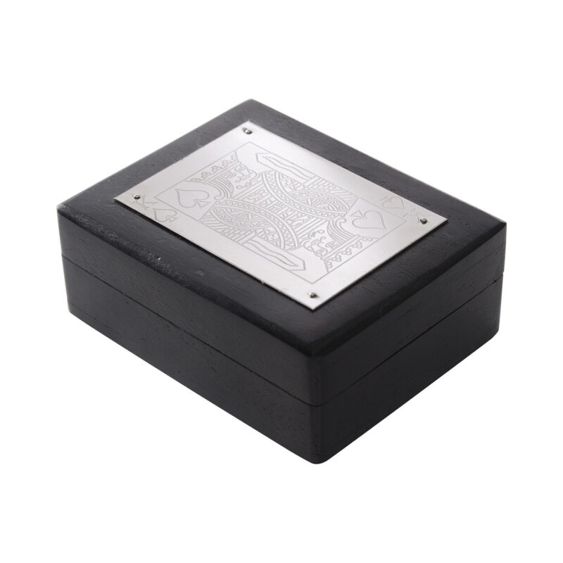 Libra – Black and Silver Playing Card Box with Pack of Cards Inside