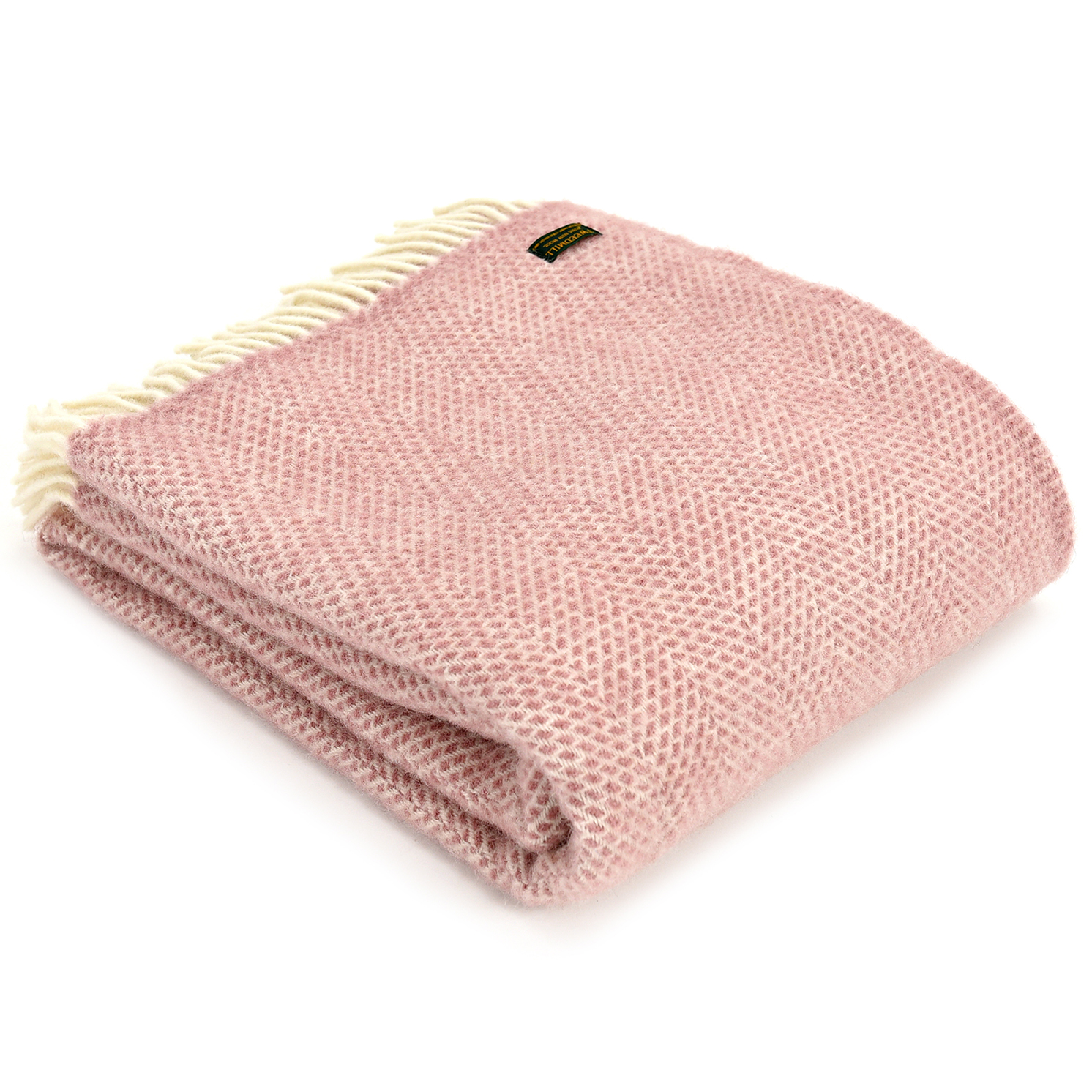 Tweedmill – Dusky Pink Pure New Wool Beehive Throw